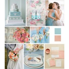 Baby Blue + Peach color inspiration, Just Wenderful