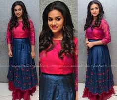 Keerthi Suresh at Remo Success Meet, Keerthi Suresh Dresses, Keerthi Suresh Outfit at Remo Success Meet.
