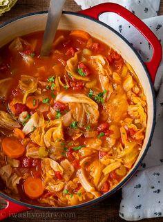 Cabbage Soup Recipe Vegetarian Cabbage, Vegetarian Soup, Healthy Soup, Vegetarian Recipes, Keto Soup, Easy Cabbage Soup, Cabbage Soup Recipes, Stuff Cabbage Soup, Potato Recipes