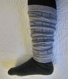 Boot cuffs & leg warmers from old wool sweaters
