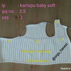Nuray Discover thousands of images about Dilara Tatlıer-İbiş, This post was discovered by EmeDiscover thousands of images about Baby vest. Worked in one piece. Baby Knitting Patterns, Crochet Patterns, Hairstyle Trends, 4 Month Old Baby, 5 Babies, Moda Emo, Bind Off, Baby Vest, Jil Sander