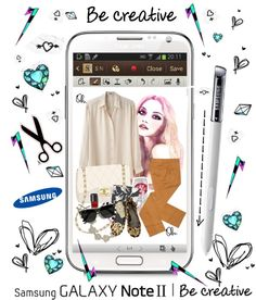 """""""I just entered the Samsung GALAXY Note II contest on Polyvore!"""" by cutandpaste ❤ liked on Polyvore"""