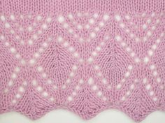 Estonian Leaf Edging would be a wonderful stitch to use on a scarf or shawl. Much easier to work than it looks. Find it in the Estonian Edgings category.
