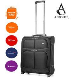 AEROLITE 56X45X25CM LIGHTWEIGHT EASYJET, BRITISH AIRWAYS, JET2 & MONARCH MAXIMUM 2 WHEEL HAND CABIN LUGGAGE SUITCASE