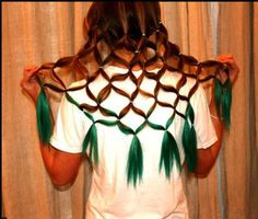 haha someone should do this for crazy hair day at school!