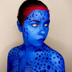 DIY X-Men Mystique Halloween Costume Idea 7