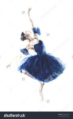 Original watercolor ballerina ballet watercolor by YuliaSheArt -Layers of the Sea- Ballet Art, Ballet Dancers, Ballerinas, Ballet Drawings, Art Drawings, Ballerina Kunst, Ballerina Painting, Ballerina Project, Ballerina Wallpaper