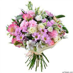 Airy chrysanthemum bouquet