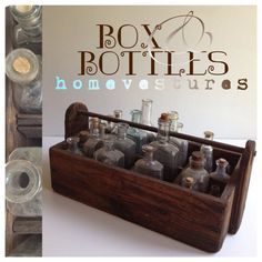Antique Box With Collection of Old Bottles on Etsy, $69.00