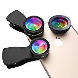 #8: [3 in 1 Lens Kit] Milocos Professional Clip-on HD Lens Kit 15x Macro Lens  0.36x Wide Angle Lens  180 Fisheye Lens for iPhoneiPadSamsungWindows & Most Smartphones - Shop for digital SLRs (http://amzn.to/2bZ3ZZk) mirrorless cameras (http://amzn.to/2bsCDJs) lenses (http://amzn.to/2bZ35fr) drones (http://amzn.to/2bRmtgx) security cameras (http://amzn.to/2bsBiCG)