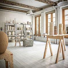 No automatic alt text available. Workshop Studio, Workshop Design, Home Office, Clay Studio, Ceramic Studio, Material Color Palette, Tortus Copenhagen, Soho House Berlin, Ceramic Workshop