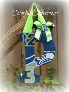 Seattle Seahawks painted letter. A fantastic by ColorfulCharacters  Visit me on facebook! www.facebook.com/colorfulcharacters909