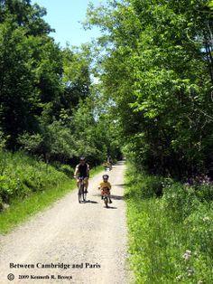 Hamilton-Brantford-Cambridge Rail Trail Cambridge, Ontario, Hamilton, Famous People, Cycling, Trail, Hiking, Country Roads, Spring Summer