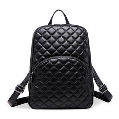 2016 New Hot Backpack Women Quilted Fashion Sheepskin Leather Backpack  For Teenage Girls Shoulder Bags Travel Bag School Bag