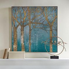 """Giclée printing ensures the highest resolution quality and spectacular color fidelity Cotton canvas hand stretched over solid wood bars Finished with a floating driftwood-hued frame Arrives ready to hang  36""""x36"""""""