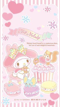 My Melody Pink Wallpaper Anime, My Melody Wallpaper, Sanrio Wallpaper, Hello Kitty Wallpaper, Kawaii Wallpaper, Wallpaper Iphone Cute, Cute Wallpapers, Cute Animal Drawings Kawaii, Kawaii Art