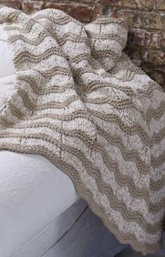 Knit Wave Afghan.  I've made this before and it is a good afghan.