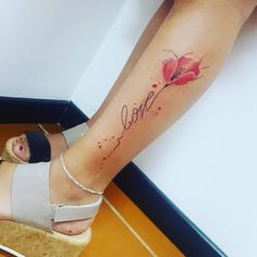 flower tattoo designs leg 59