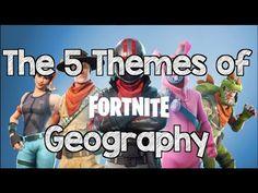 Mr M explains the Five Themes of Geography using the video game Fortnite. We go over the five themes including Movement, Region, Human-Environment Interactio. Five Themes Of Geography, Geography Activities, Geography Lessons, Teaching Geography, World Geography, Dinosaur Activities, Human Geography, Social Studies Projects, 6th Grade Social Studies