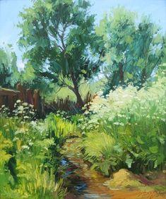 Yuriy Demiyanov, En été, Le Ruisseau