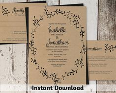Hey, I found this really awesome Etsy listing at https://www.etsy.com/listing/255369202/wedding-invitation-template-printable