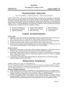 Environmental Executive Resume Example  Executive Resume Resume