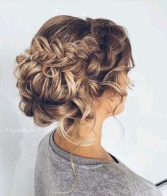 Curly bun, Ombre hair, #brunette #blonde #ombre #upstyle