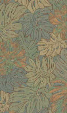 Autumn Bold Leaves Tropical Wallpaper R5919 - Sample Price