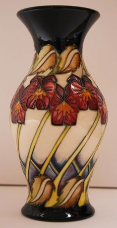 Moorcroft Pottery The Dames' Pansy Vase Pot by Kerry Goodwin First Quality New