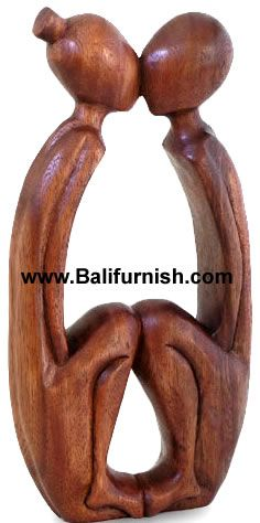 BALI WOOD STATUES ABSTRACT