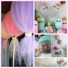 Unicorn Birthday Party Decorations, Girl Unicorn Birthday Party Balloons #marilijeanbirthdaypartyideas