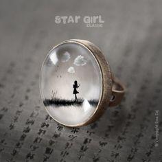 Star Girl Classic Obłoki - duży pierścień (proj. Ewa Saj), do kupienia w DecoBazaar.com