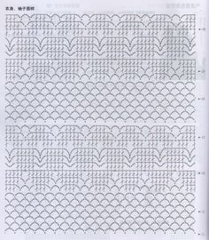 interesting combination of stitch patterns