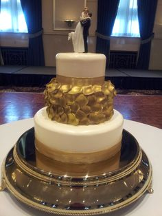 gold petals and gold ribbon weddingsbyholiday.com