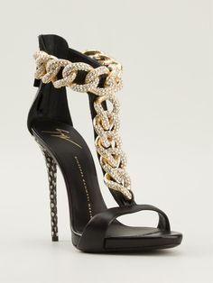 Giuseppe Zanotti Design Curb Chain Sandals - Biondini Paris - Farfetch.com