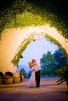 Romantic, Pink, Vineyard Wedding