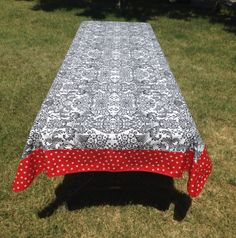 Rectangle Mod Apple Green Oilcloth Tablecloth With Gingham Blue Trim | Best Oilcloth  Tablecloth And Oilcloth Ideas