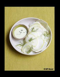 Salade blanche, sauce wasabi