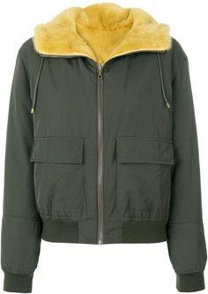Army Yves Salomon reversible bomber jacket