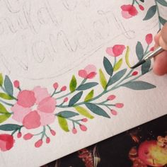 Painting leaves for commissioned work #watercolour #artvideo #watercolourwreath…