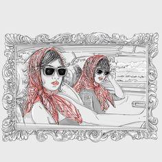 "Design di Series of mini ""Ways to Wear"" fashion illustrations for Women's Luxury Shawl Brand di lacaramella"