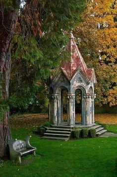 english garden Garden buildings, Gothic garden, Am - Garden Buildings, Garden Structures, Beautiful Architecture, Beautiful Landscapes, Beautiful Buildings, Amazing Gardens, Beautiful Gardens, Gazebos, Arbors