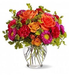 Imagine how sweet it will be when this cheerful arrangement arrives at the recipient's door, ready to bring a big smile to their face! Richly col ...