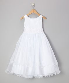 Take a look at this White Tiered A-Line Dress - Infant, Toddler & Girls by Kid's Dream on #zulily today!