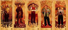 The Men of Firefly: Jayne, Mal, Simon, Wash, and Shepherd Book
