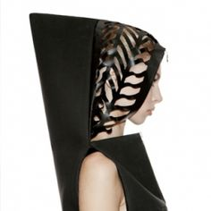 Inspired by - Editorial. Technogenesis is the latest collection from Kiev-based DZHUS. The laser cut Transforming Neoprene Hood Dress.