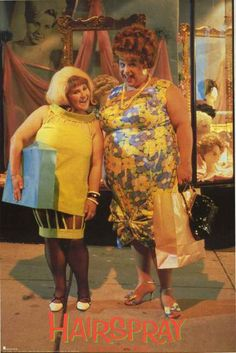 An awesome poster of Tracy (Ricki Lake) and Edna (Divine) from the classic John Waters movie Hairspray! An original published in 1988. Fully Licensed. Ships fast. 23x35 inches. Need Poster Mounts..?