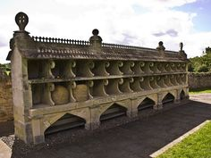 An ornate bee shelter in Hartpury built by a stone mason in Gloucester, 1850's. #beekeeping