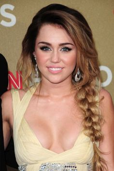 yes its miley but her make up is pretty flawless and i even like the hair