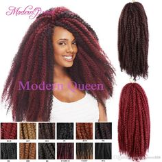 2016 Cheap Hot Sale 18inch 100g Afro Kinky Twist Hair Crochet Braids Muliti Color Marley Senegalese Twist Crochet Ombre Braiding Hair Extensions From Modernqueen888, $7.92 | Dhgate.Com Side Cut Hairstyles, Afro Kinky Hairstyles, Crochet Braids Hairstyles, Twist Hairstyles, Braiding Hair Colors, Afro Kinky Twists, Marley Hair, Best Wigs, Braid In Hair Extensions